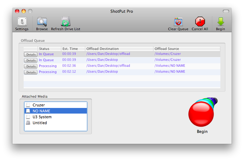 ShotPut Pro for Macintosh Version: 4.0.1