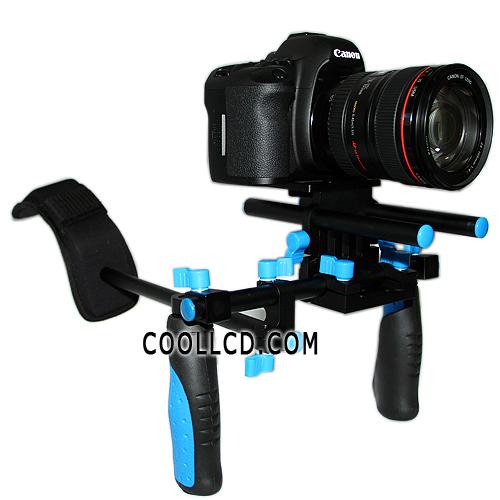 $150 DSLR Shoulder Coollcd Rig, $40 Gunstock, $7 Handle: