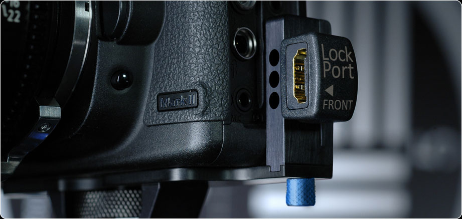 The $99 LockPort5 Canon 5D HDMI Rock Solid Clamp:
