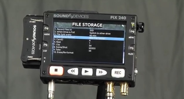 Sound Devices PIX 240 New Firmware Features for the RED EPIC: