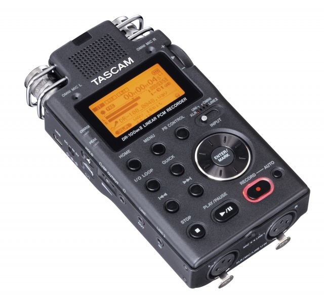 Tascam DR-100MKII Handy Recorder with Locking XLR Inputs: