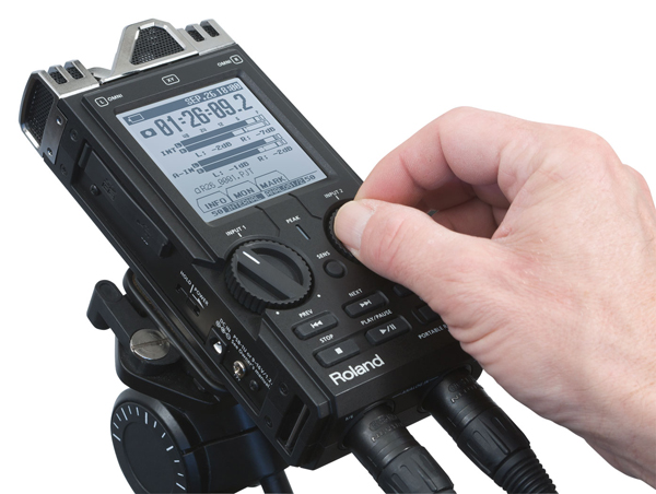 Roland R26 6 Channel Audio Field Recorder With XLR Inputs:
