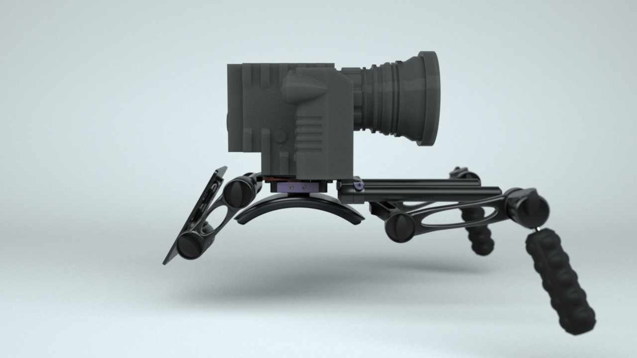 Titan EPIC Scarlet Shoulder Camera Rig with Battery Plate: