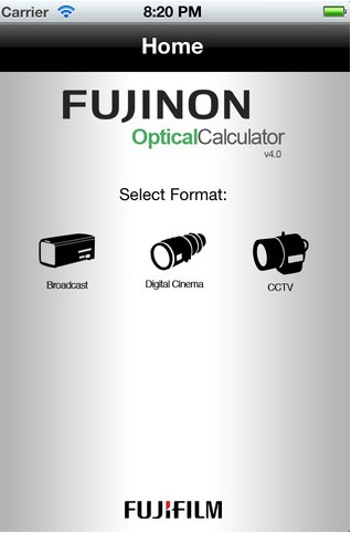 FREE Fujinon OptCal App for Calculating Depth of Field & More: