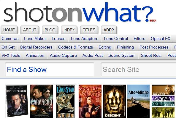 ShotOnWhat? The Source for Motion Picture & Television Technical Information: