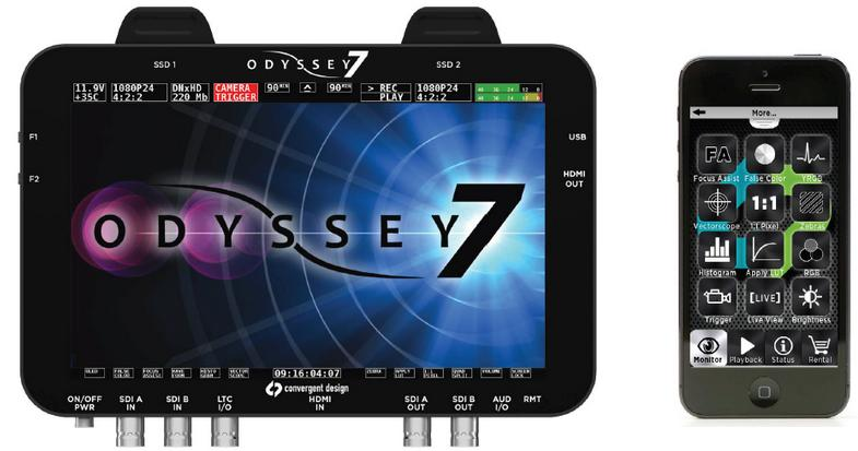 Convergent Design Odyssey7 and Odyssey7Q OLED Monitors: