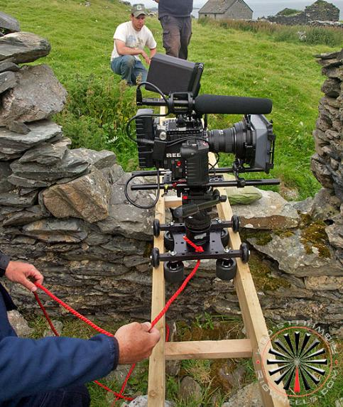16 Foot Dollies With RED Epic Camera on Small Irish Islands: