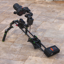 More Brushless Gimbal Camera Setups Including One On a Funky Shoulder Mounted Camera Rig: