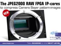 intoPIX JPEG2000 RAW FPGA IP-Cores to Compress Camera Bayer Pattern Images: