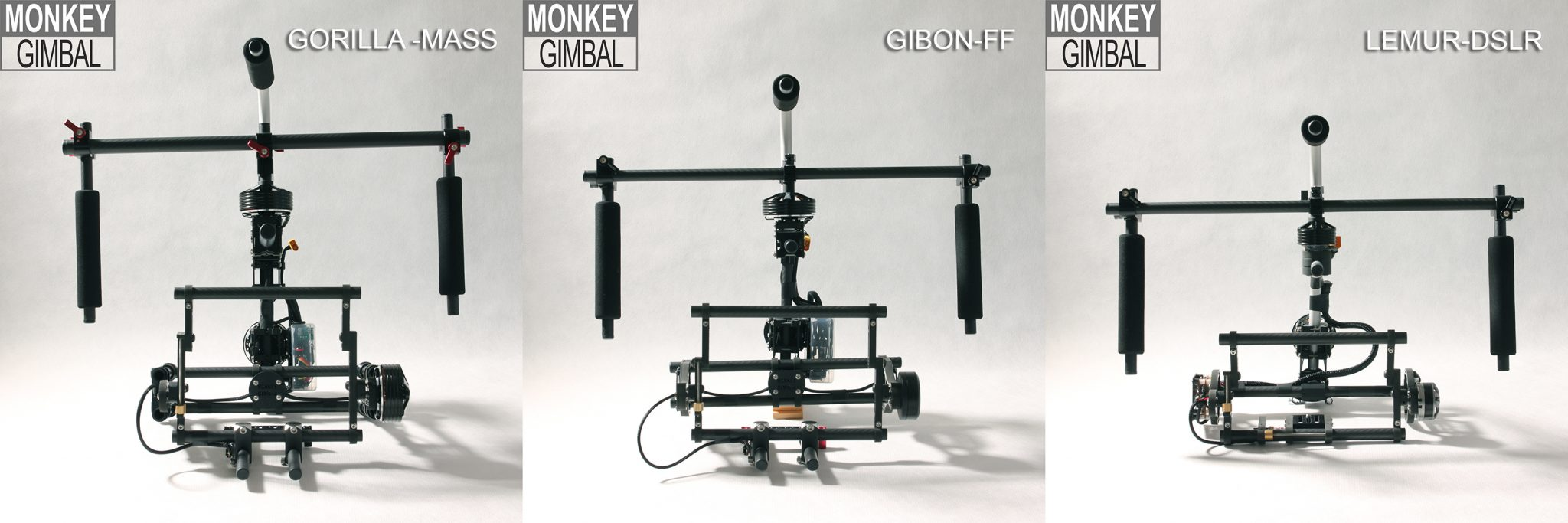 Monkey Gimbal Have a Massive 9 Versions Of Their 3-axis Handheld Camera Brushless Gimbal Stabilizer:
