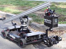 The Novo Camera & Novo Stabilized Mounted on The Radcam RC Car: