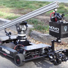 The Novo Camera & Novo Stabilized Mounted on The Radcam RC Car: