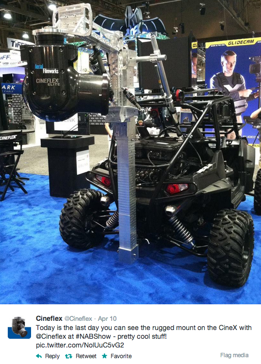 Seriously Who Wouldn't Want This Rugged Mount On a CineX In Their Driveway: