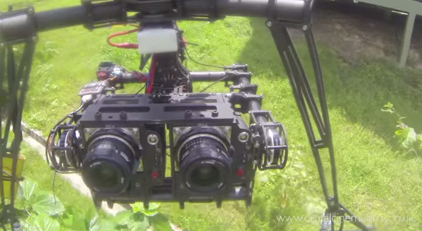 Dual Brushless Gimbal 3D Red Epic Octocopter: