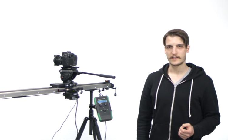 Slidekamera HKN-2 Motion Control on a HSK-5 Heavy Duty Video Slider: