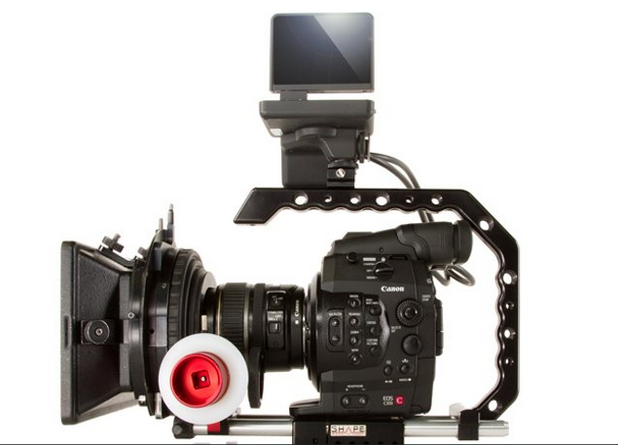 SHAPE Paparazzi Handle and Baseplate For Canon C100 C300 C500 Cameras: